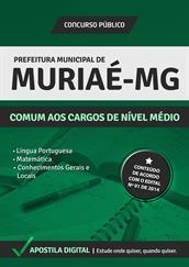 Apostila Digital Prefeitura de Muriaé- MG - Comum aos Cargos de Nível Médio - Grátis Simulados Online