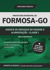 Apostila Digital Prefeitura de Formosa-GO - Agente de Serviços de Higiene e Alimentação - Classe l