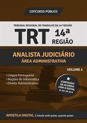 Apostila Digital TRT-14º Região - Analista Judiciário - Área Administrativa