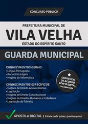 Apostila Digital Prefeitura de Vila Velha - Guarda Municipal