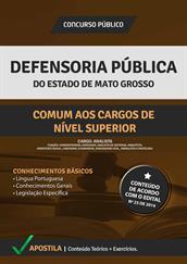 Apostila Defensoria Pública-MT - Cargos de Nível Superior