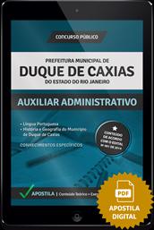 Apostila Digital Concurso Duque de Caxias – RJ – Auxiliar Administrativo
