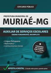 Apostila Digital Prefeitura de Muriaé- MG - Auxiliar de Serviços Escolares - Grátis Simulados Online