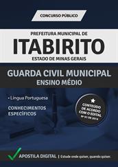 Apostila Digital Prefeitura de Itabirito-MG - Guarda Civil Municipal - Grátis Simulados Online