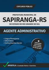 Apostila Digital Prefeitura de Sapiranga-RS – Agente Administrativo
